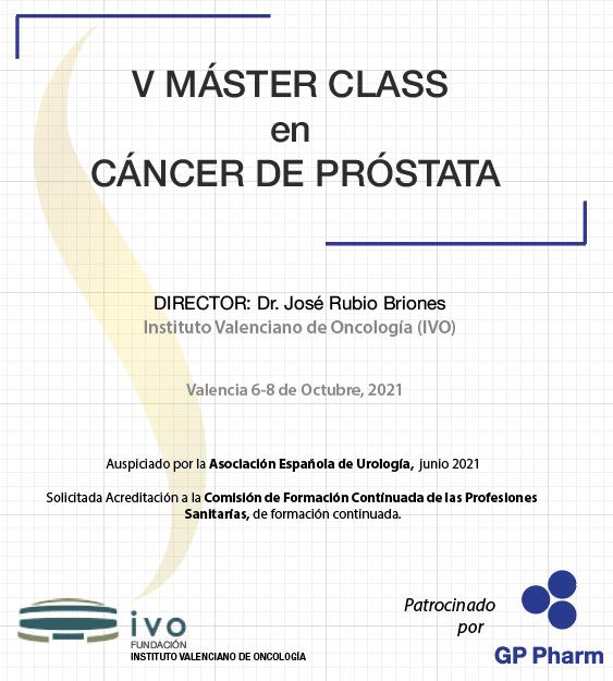 Nueva edición del V MásterClass en Cáncer de Próstata